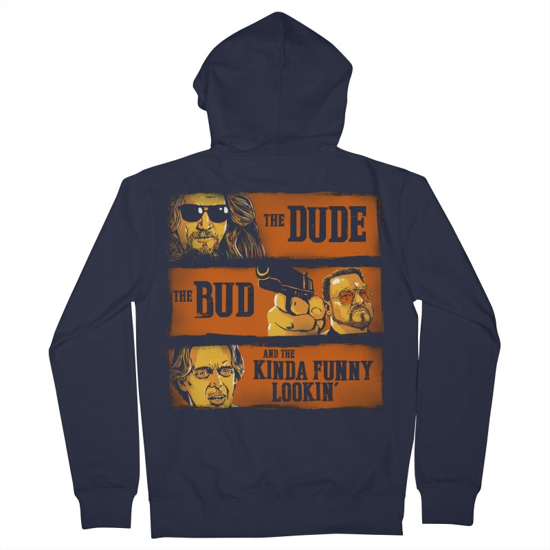 The Dude, the Bud and the Kinda Funny Lookin' Women's Zip-Up Hoody by stephencase's Artist Shop