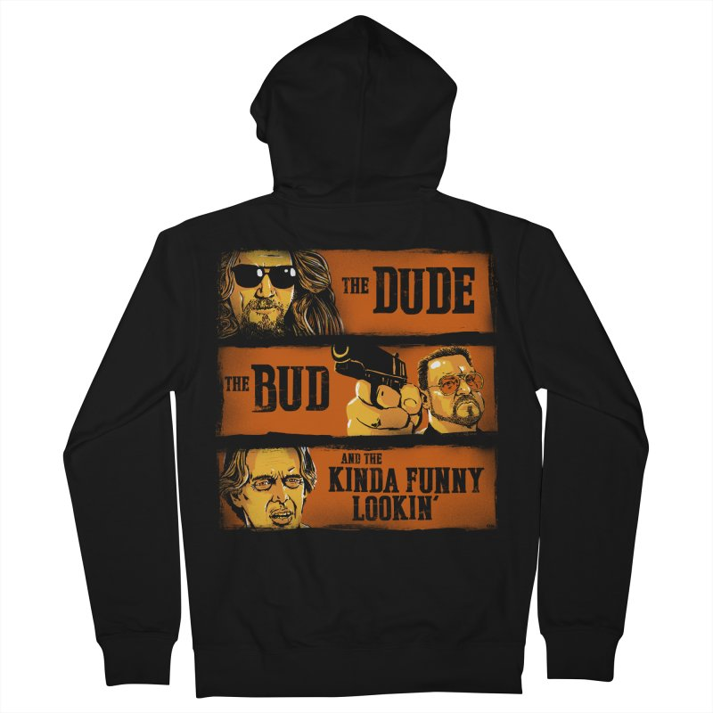 The Dude, the Bud and the Kinda Funny Lookin' Men's Zip-Up Hoody by stephencase's Artist Shop