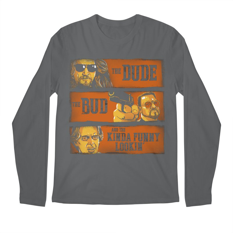 The Dude, the Bud and the Kinda Funny Lookin' Men's Longsleeve T-Shirt by stephencase's Artist Shop