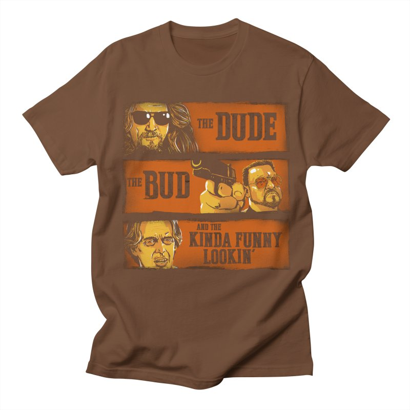 The Dude, the Bud and the Kinda Funny Lookin' Men's T-shirt by stephencase's Artist Shop