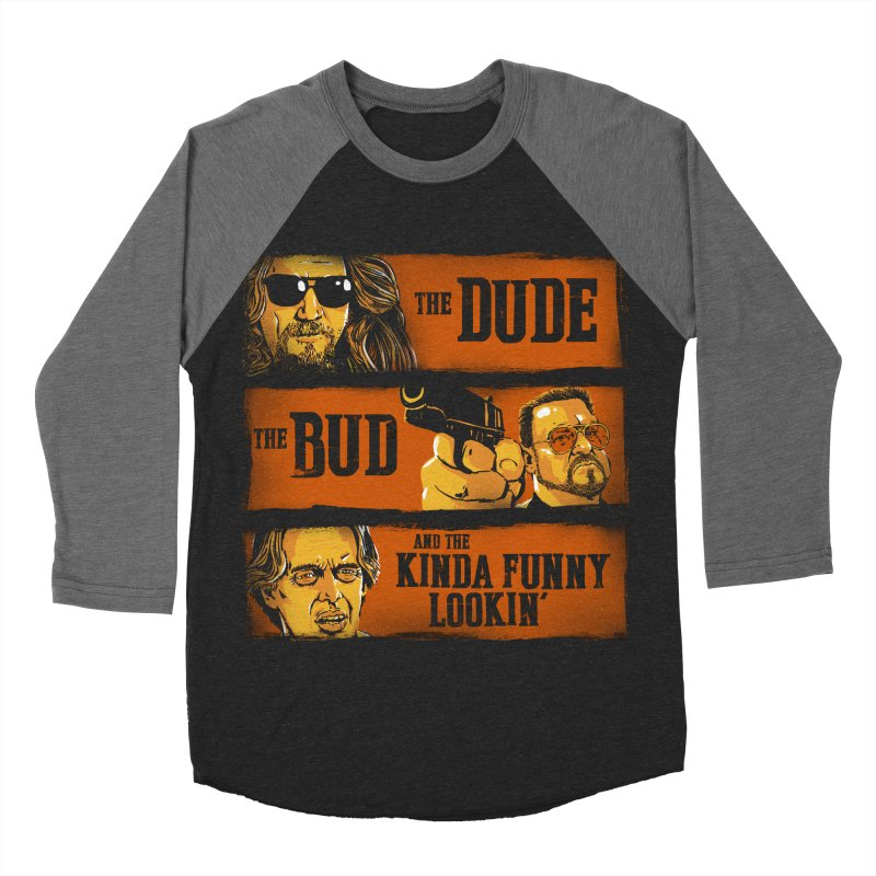 The Dude, the Bud and the Kinda Funny Lookin' Women's Baseball Triblend T-Shirt by stephencase's Artist Shop