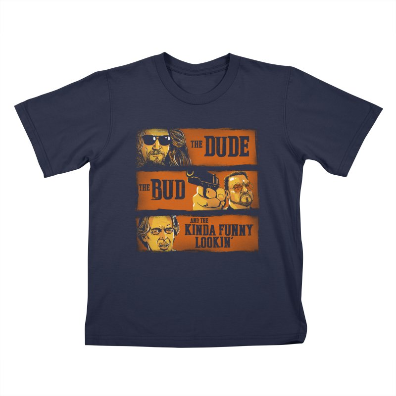 The Dude, the Bud and the Kinda Funny Lookin' Kids T-shirt by stephencase's Artist Shop