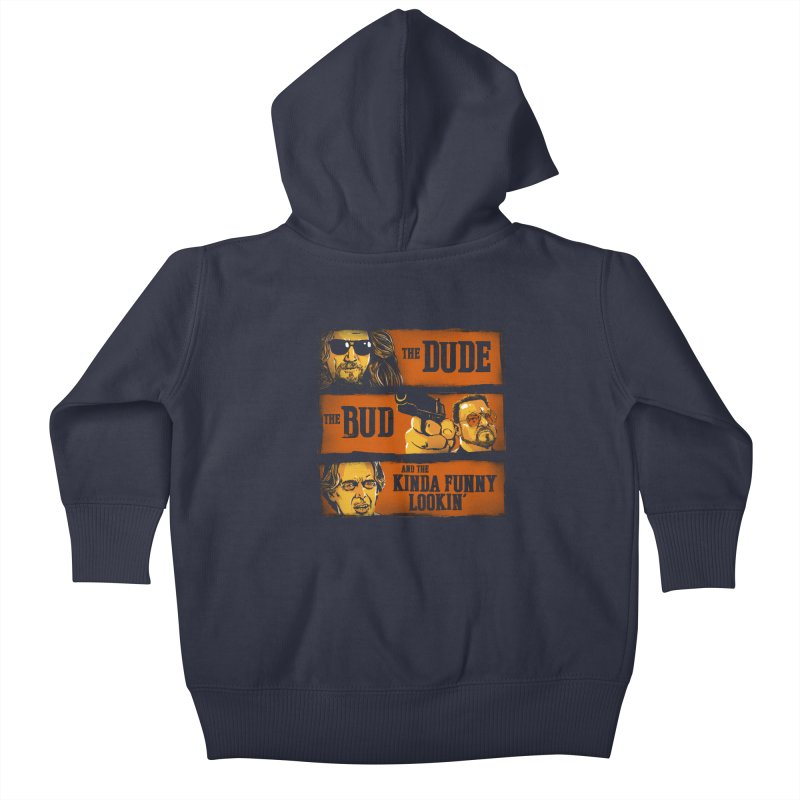 The Dude, the Bud and the Kinda Funny Lookin' Kids Baby Zip-Up Hoody by stephencase's Artist Shop