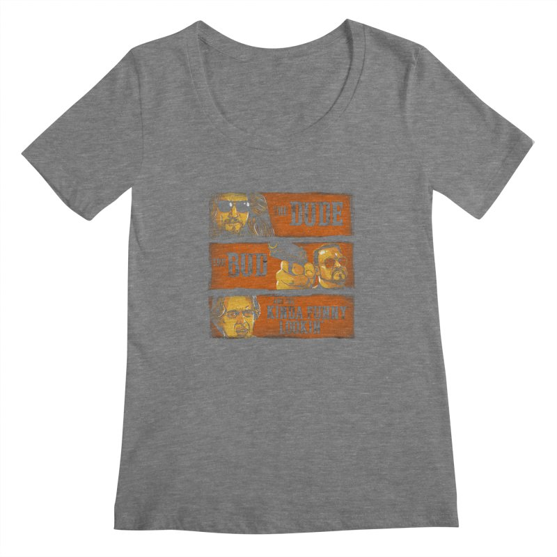 The Dude, the Bud and the Kinda Funny Lookin' Women's Scoopneck by stephencase's Artist Shop