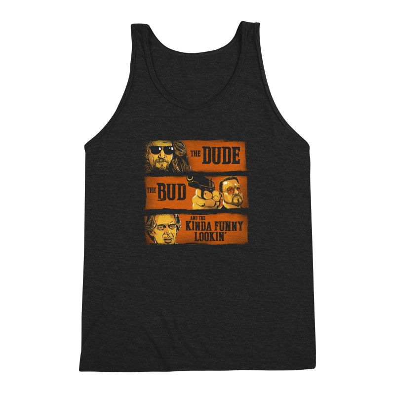 The Dude, the Bud and the Kinda Funny Lookin' Men's Triblend Tank by stephencase's Artist Shop