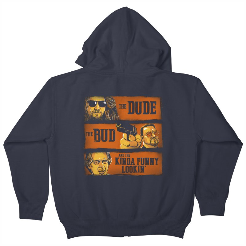 The Dude, the Bud and the Kinda Funny Lookin' Kids Zip-Up Hoody by stephencase's Artist Shop