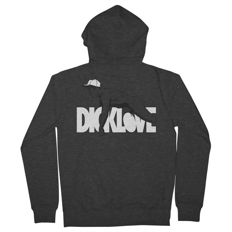 D*CKLOVE Men's French Terry Zip-Up Hoody by Stephen Draws's Artist Shop