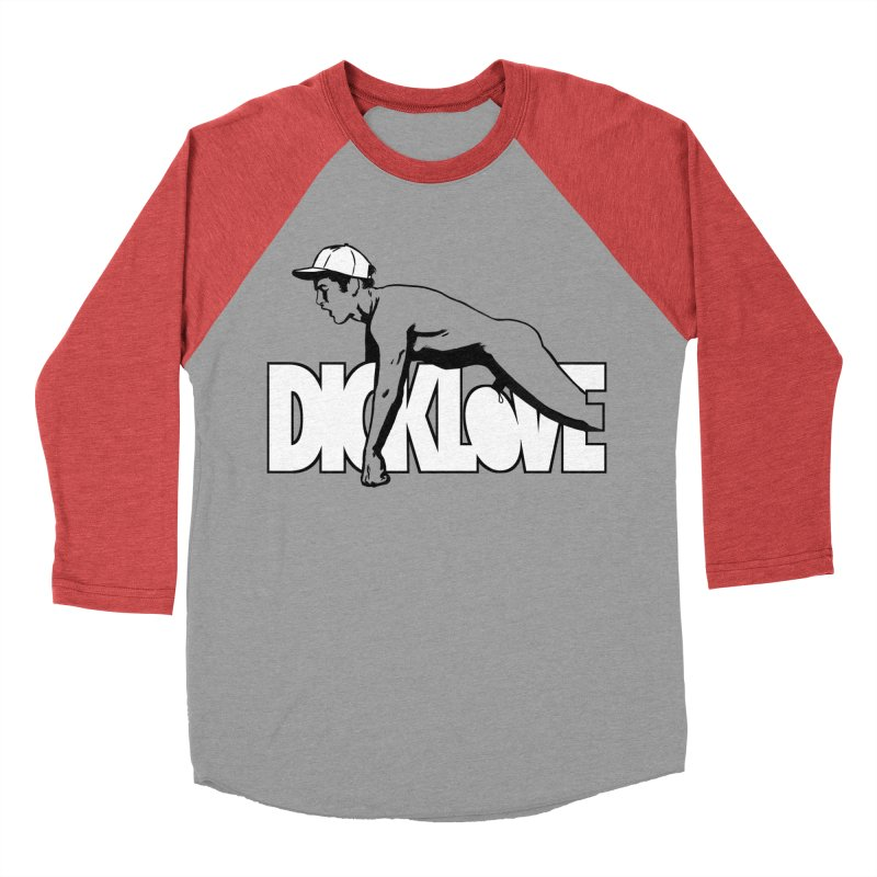 D*CKLOVE Men's Baseball Triblend Longsleeve T-Shirt by Stephen Draws's Artist Shop