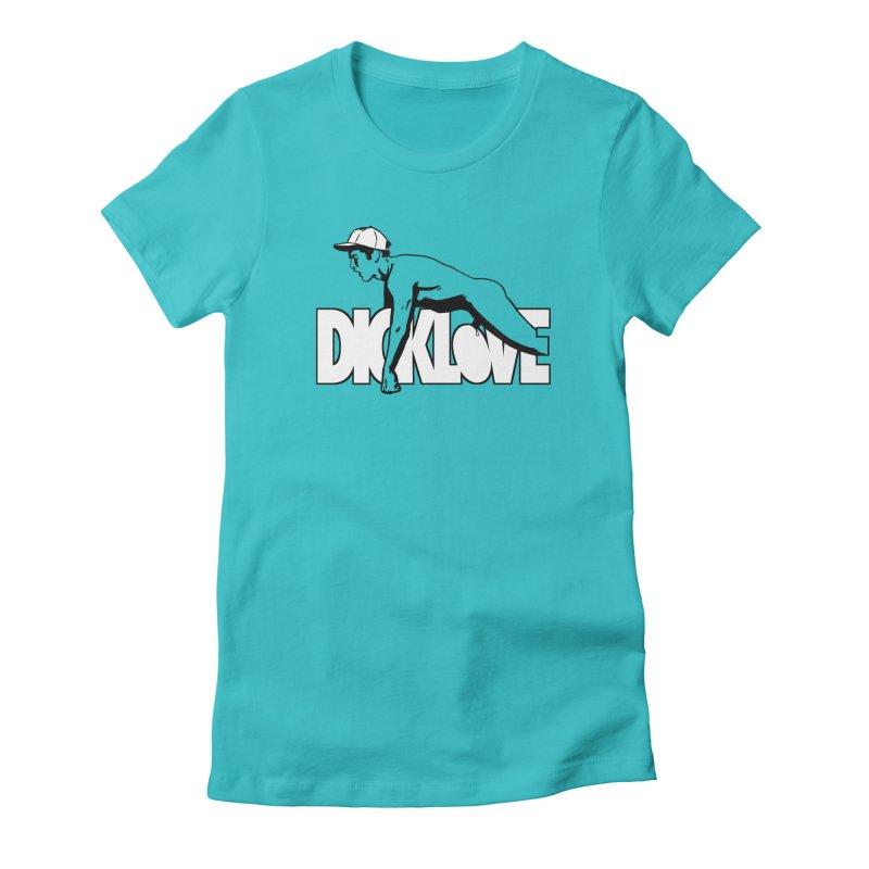 D*CKLOVE Women's Fitted T-Shirt by Stephen Draws's Artist Shop