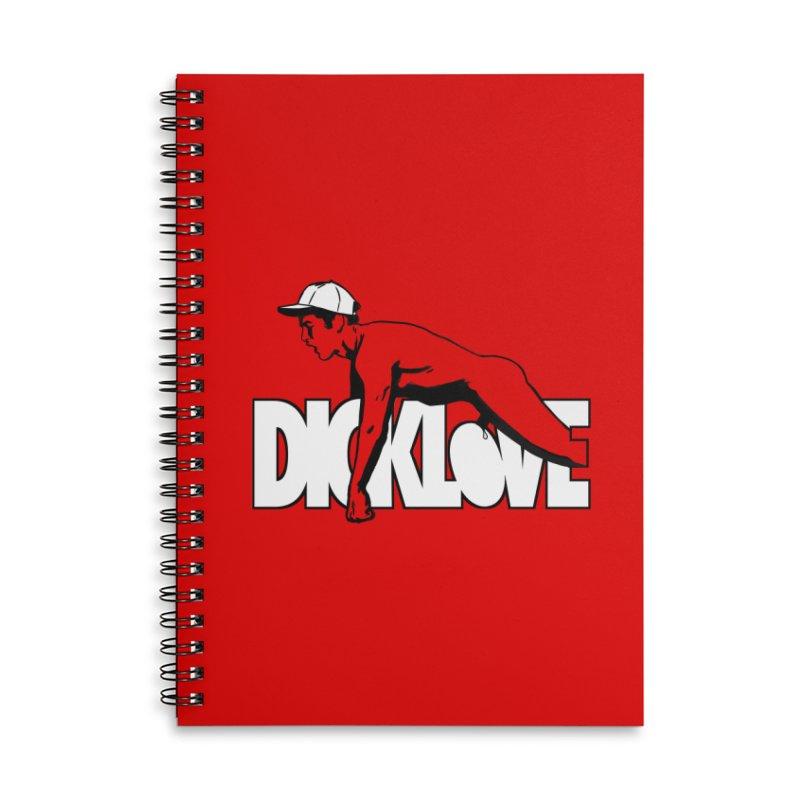 D*CKLOVE Accessories Lined Spiral Notebook by Stephen Draws's Artist Shop
