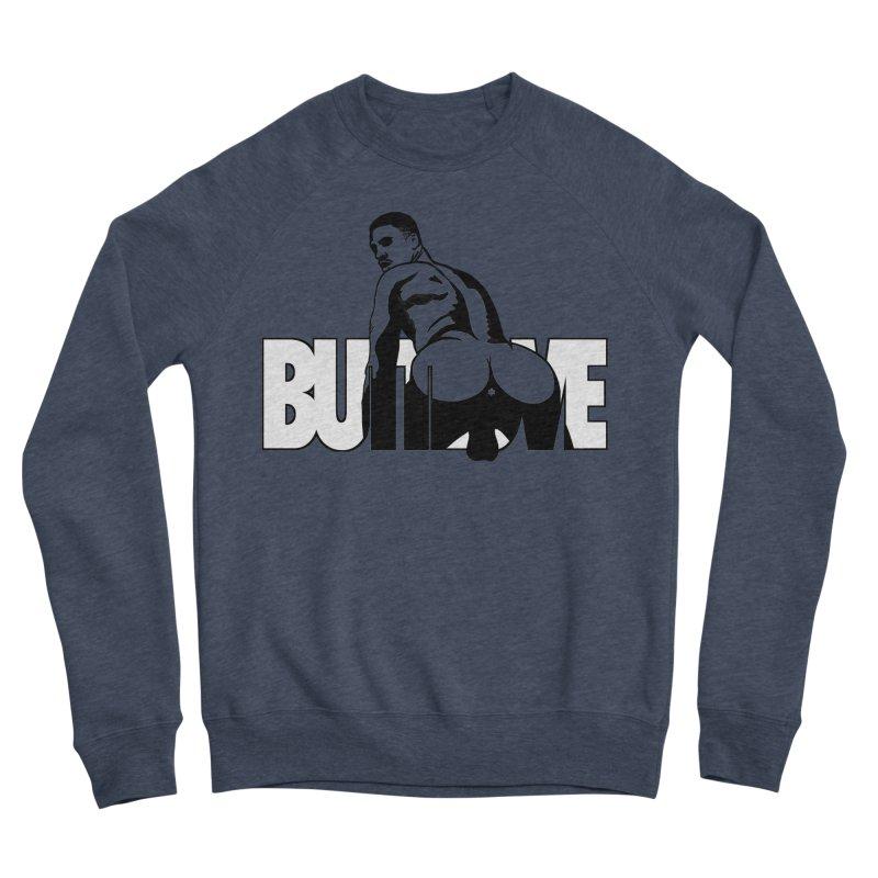 BUTTLOVE Men's Sponge Fleece Sweatshirt by Stephen Draws's Artist Shop
