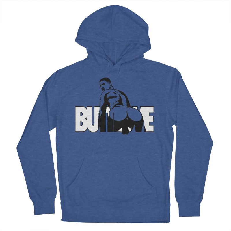 BUTTLOVE Men's French Terry Pullover Hoody by Stephen Draws's Artist Shop