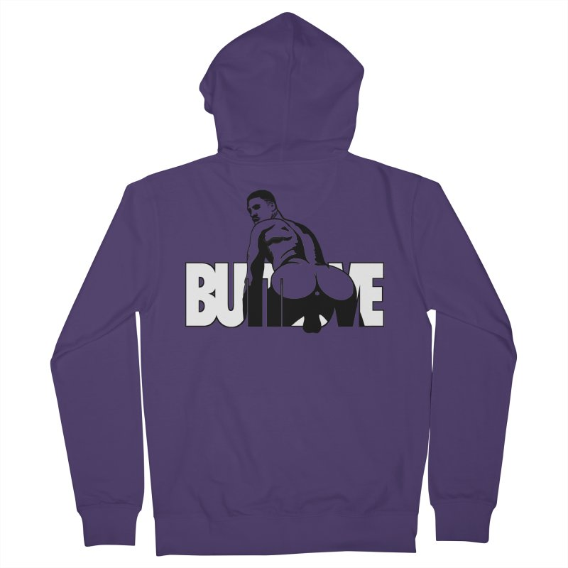 BUTTLOVE Women's French Terry Zip-Up Hoody by Stephen Draws's Artist Shop