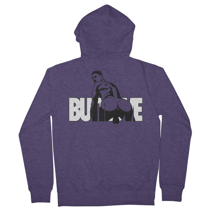 BUTTLOVE Men's French Terry Zip-Up Hoody by Stephen Draws's Artist Shop