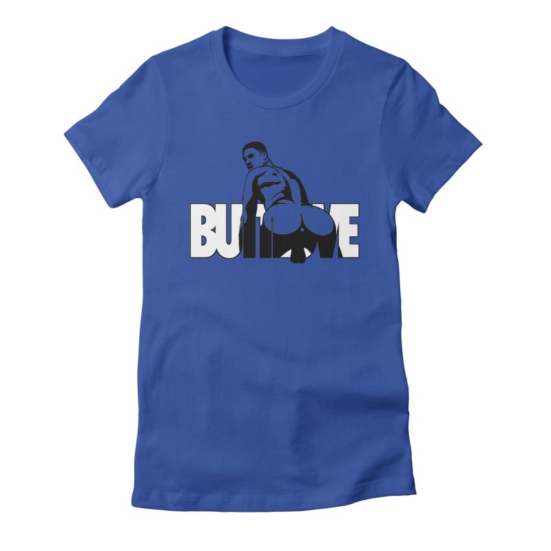 BUTTLOVE Women's Fitted T-Shirt by Stephen Draws's Artist Shop