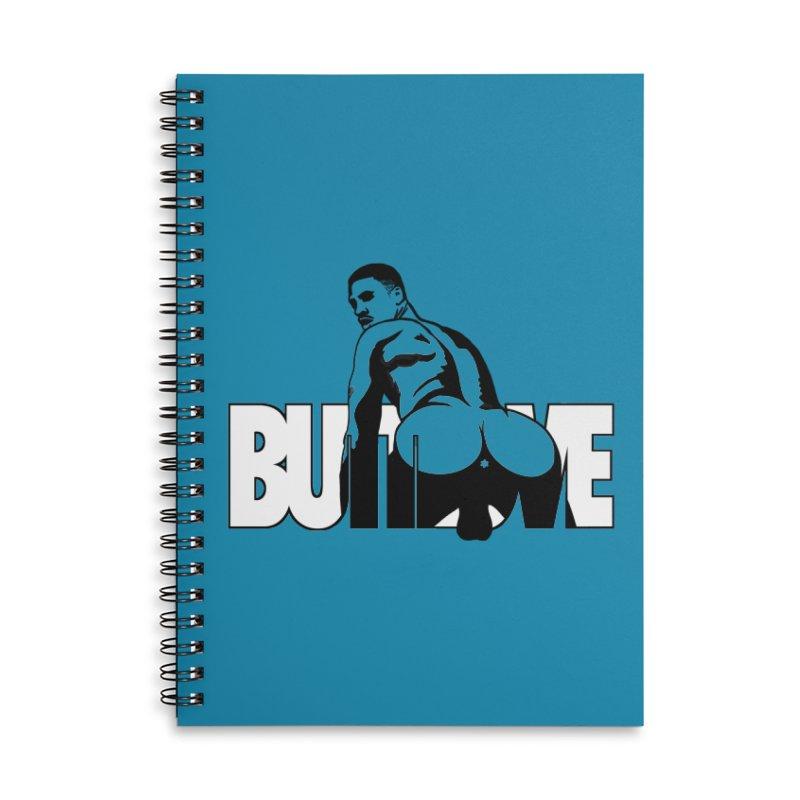 BUTTLOVE Accessories Lined Spiral Notebook by Stephen Draws's Artist Shop