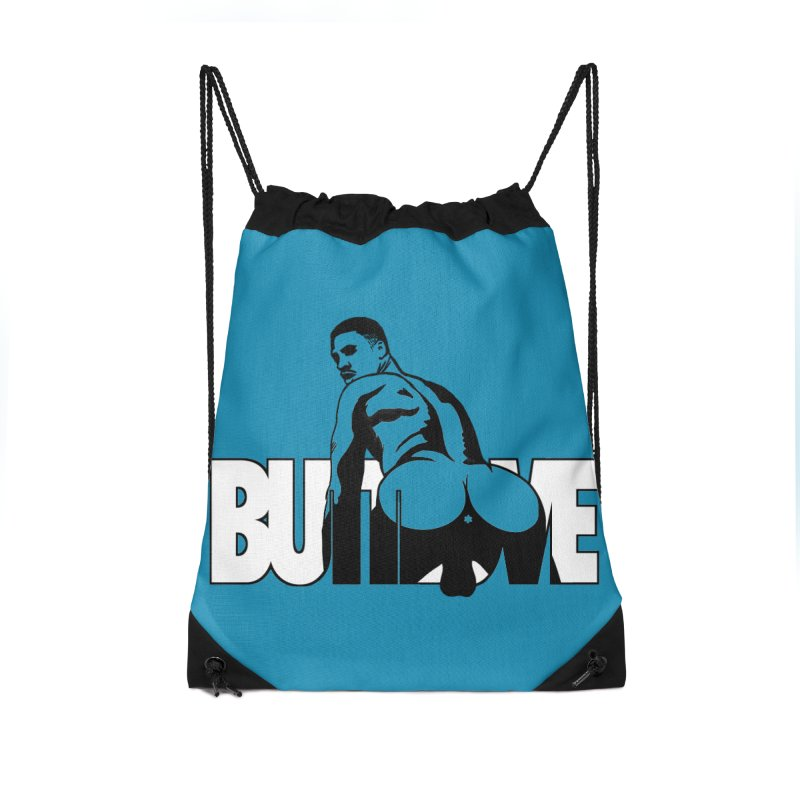 BUTTLOVE Accessories Drawstring Bag Bag by Stephen Draws's Artist Shop