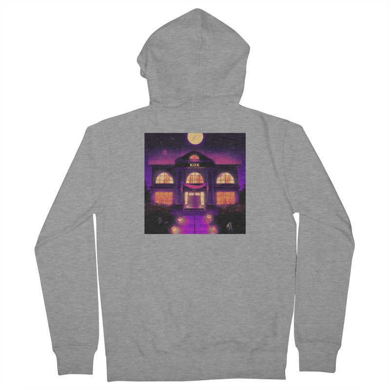 FRIGHTENING FRATHOUSE Women's French Terry Zip-Up Hoody by Stephen Draws's Artist Shop