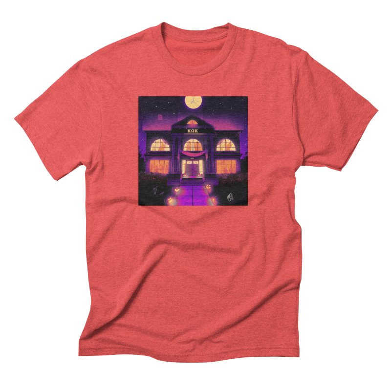 FRIGHTENING FRATHOUSE Men's Triblend T-Shirt by Stephen Draws's Artist Shop