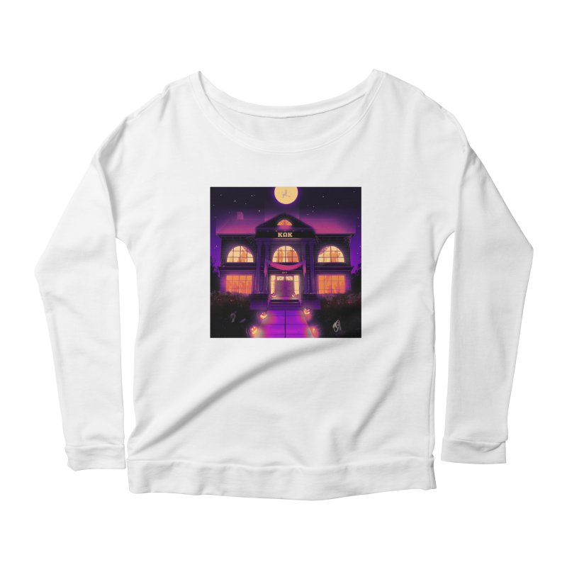 FRIGHTENING FRATHOUSE Women's Scoop Neck Longsleeve T-Shirt by Stephen Draws's Artist Shop