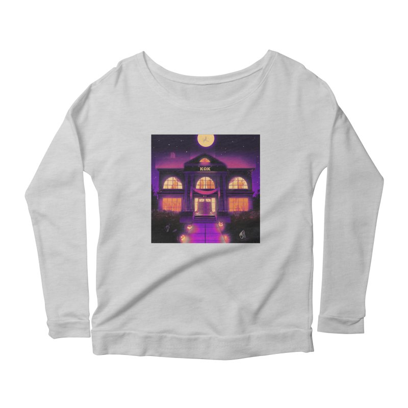 FRIGHTENING FRATHOUSE Women's Scoop Neck Longsleeve T-Shirt by Stephen Draws's Artist Shop