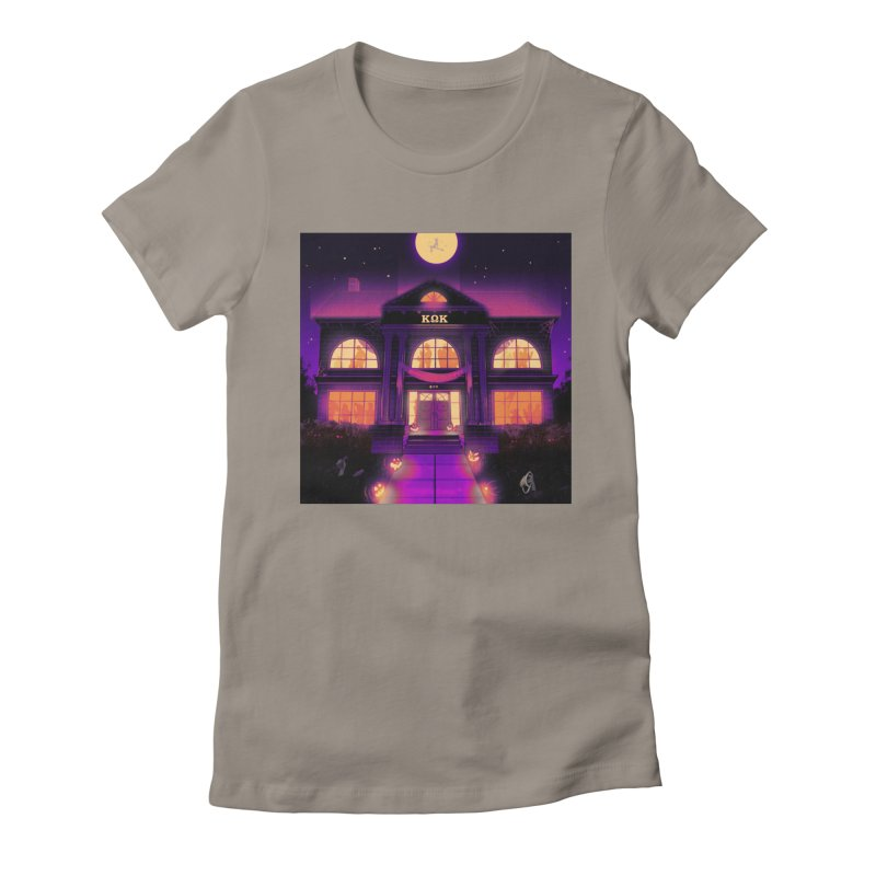 FRIGHTENING FRATHOUSE Women's Fitted T-Shirt by Stephen Draws's Artist Shop