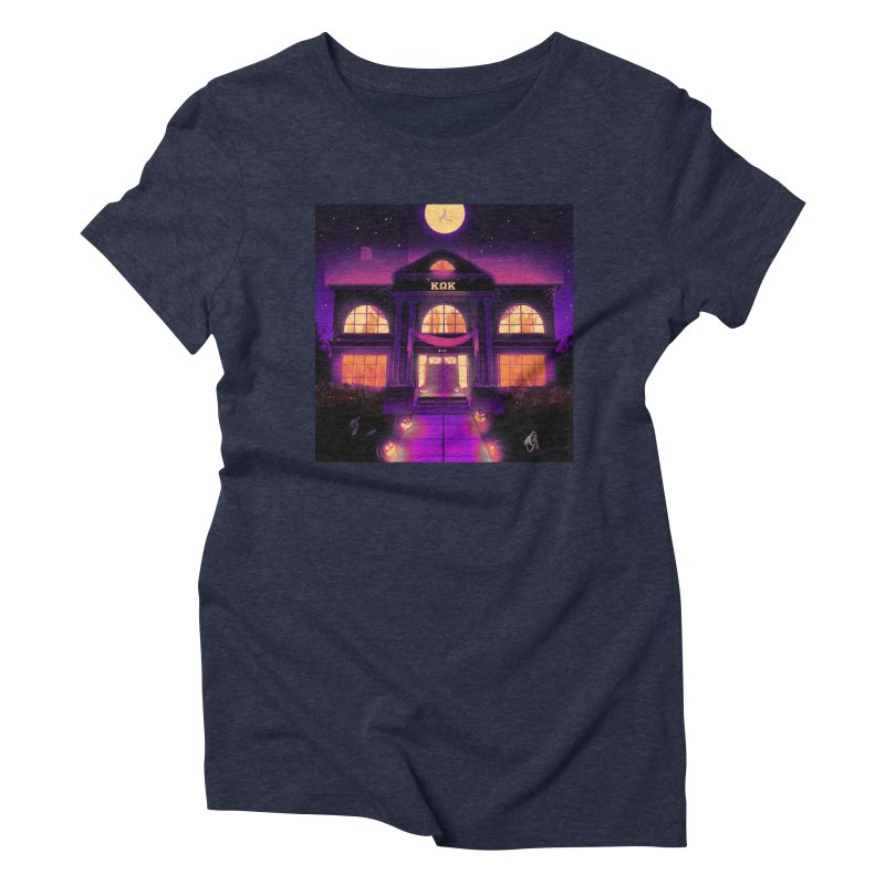FRIGHTENING FRATHOUSE Women's Triblend T-Shirt by Stephen Draws's Artist Shop