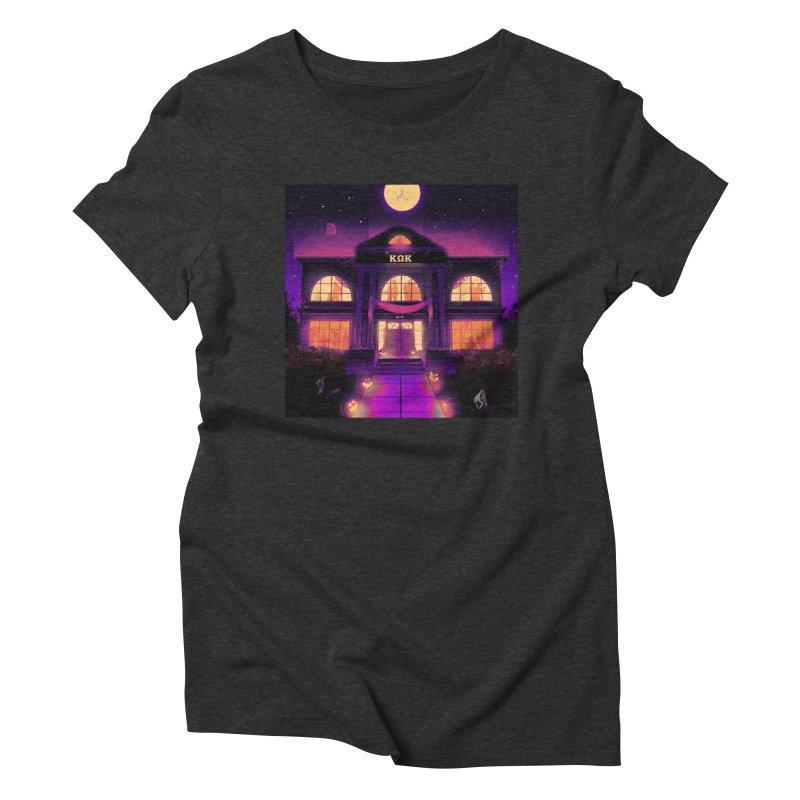 FRIGHTENING FRATHOUSE Women's Triblend T-Shirt by Stephen Draws's Artist Shop