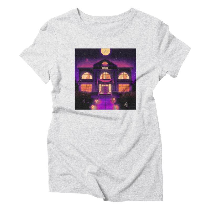 FRIGHTENING FRATHOUSE Women's T-Shirt by Stephen Draws's Artist Shop