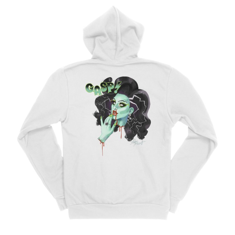 BRIDE OF FRANKENWEINER Men's Sponge Fleece Zip-Up Hoody by Stephen Draws's Artist Shop
