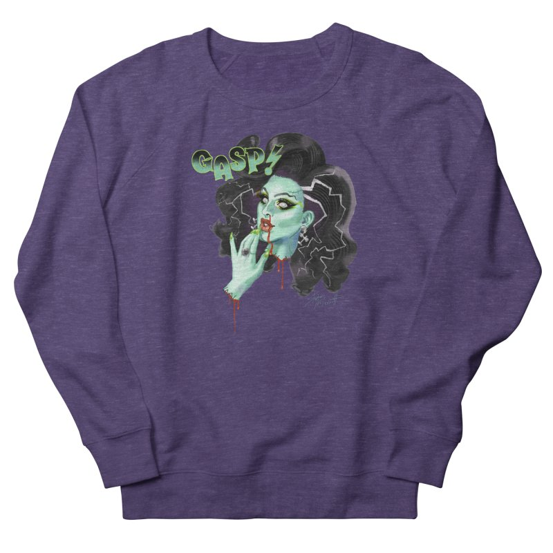 BRIDE OF FRANKENWEINER Women's French Terry Sweatshirt by Stephen Draws's Artist Shop