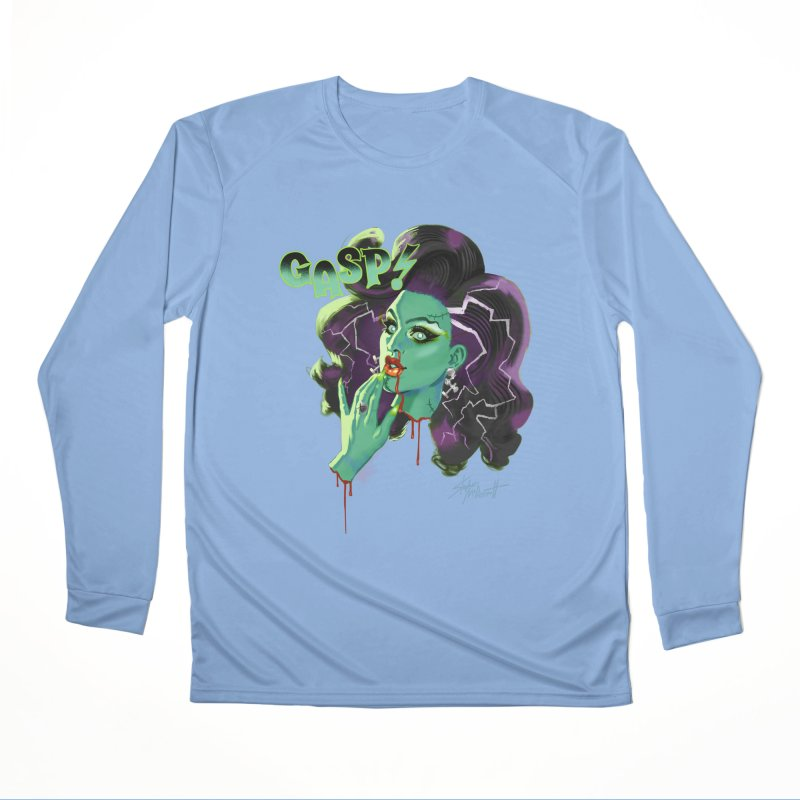BRIDE OF FRAINKENWEINER (NIGHT EDITION) Men's Performance Longsleeve T-Shirt by Stephen Draws's Artist Shop