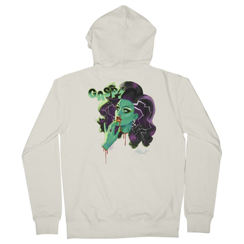 BRIDE OF FRAINKENWEINER (NIGHT EDITION) Men's French Terry Zip-Up Hoody by Stephen Draws's Artist Shop