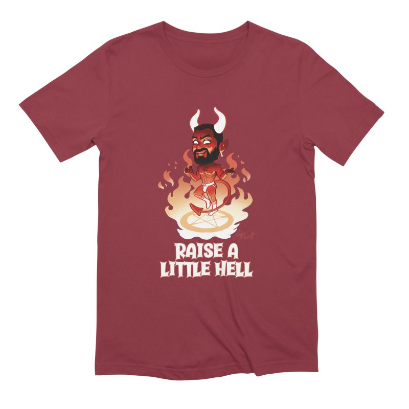 RAISE A LITTLE HELL Men's Extra Soft T-Shirt by Stephen Draws's Artist Shop