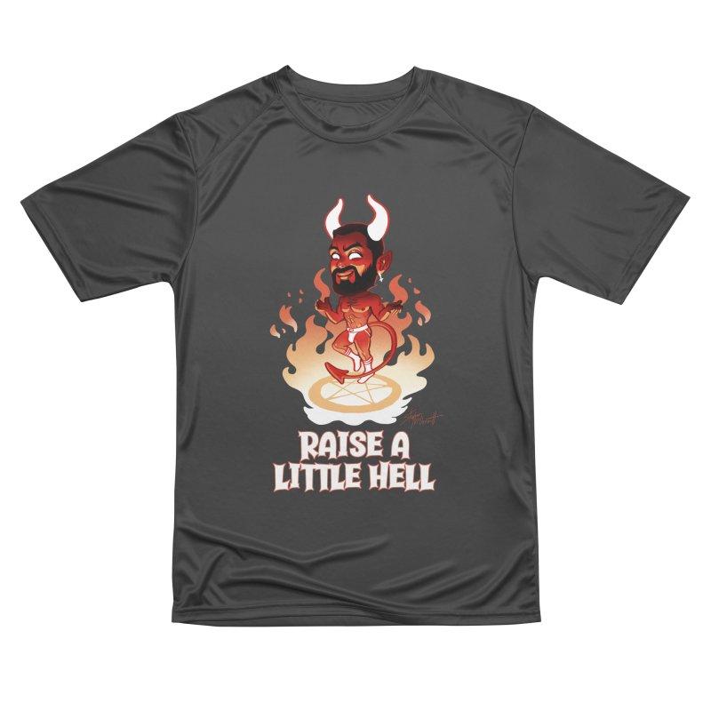 RAISE A LITTLE HELL Men's Performance T-Shirt by Stephen Draws's Artist Shop