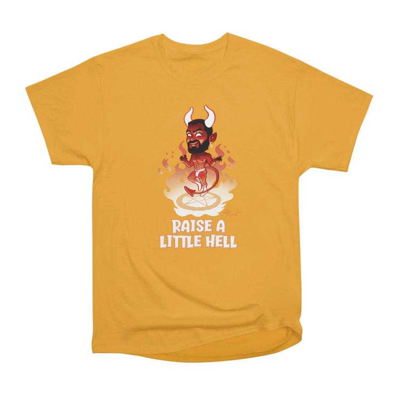 RAISE A LITTLE HELL Men's Heavyweight T-Shirt by Stephen Draws's Artist Shop