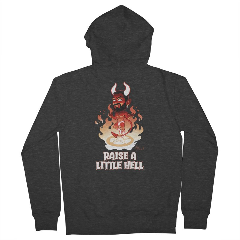 RAISE A LITTLE HELL Women's French Terry Zip-Up Hoody by Stephen Draws's Artist Shop