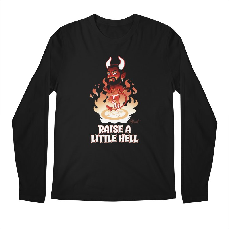 RAISE A LITTLE HELL Men's Regular Longsleeve T-Shirt by Stephen Draws's Artist Shop