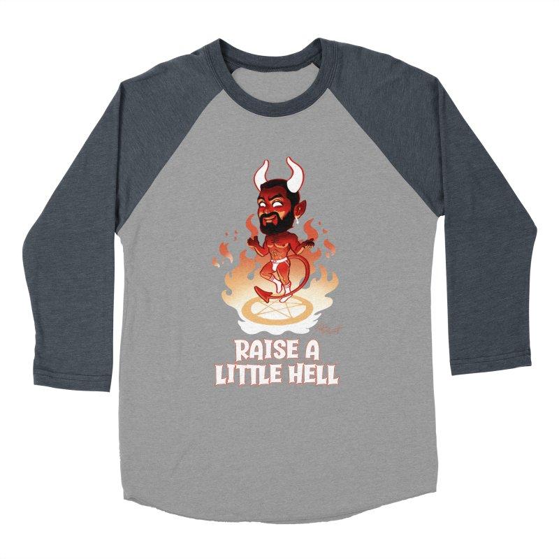 RAISE A LITTLE HELL Women's Baseball Triblend Longsleeve T-Shirt by Stephen Draws's Artist Shop