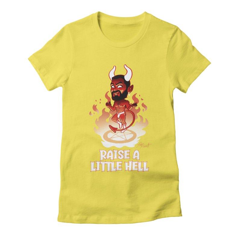 RAISE A LITTLE HELL Women's Fitted T-Shirt by Stephen Draws's Artist Shop