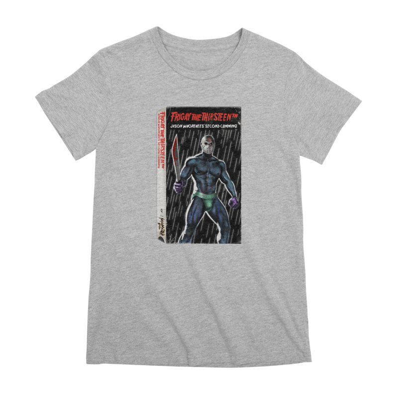 FRIGAY THE THIRSTEENTH VHS COVER Women's Premium T-Shirt by Stephen Draws's Artist Shop