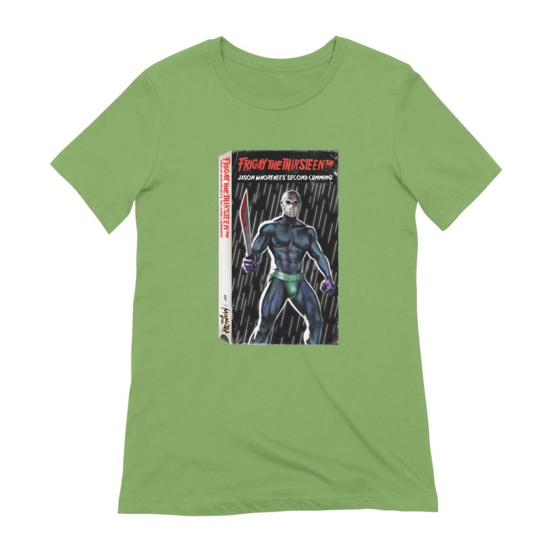 FRIGAY THE THIRSTEENTH VHS COVER Women's Extra Soft T-Shirt by Stephen Draws's Artist Shop