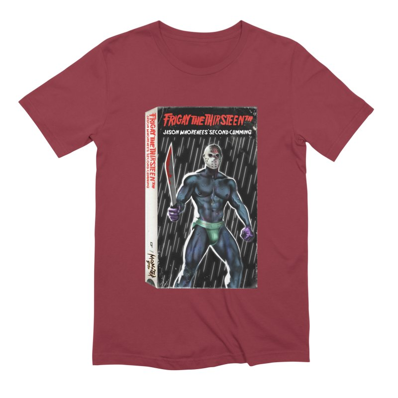 FRIGAY THE THIRSTEENTH VHS COVER Men's Extra Soft T-Shirt by Stephen Draws's Artist Shop