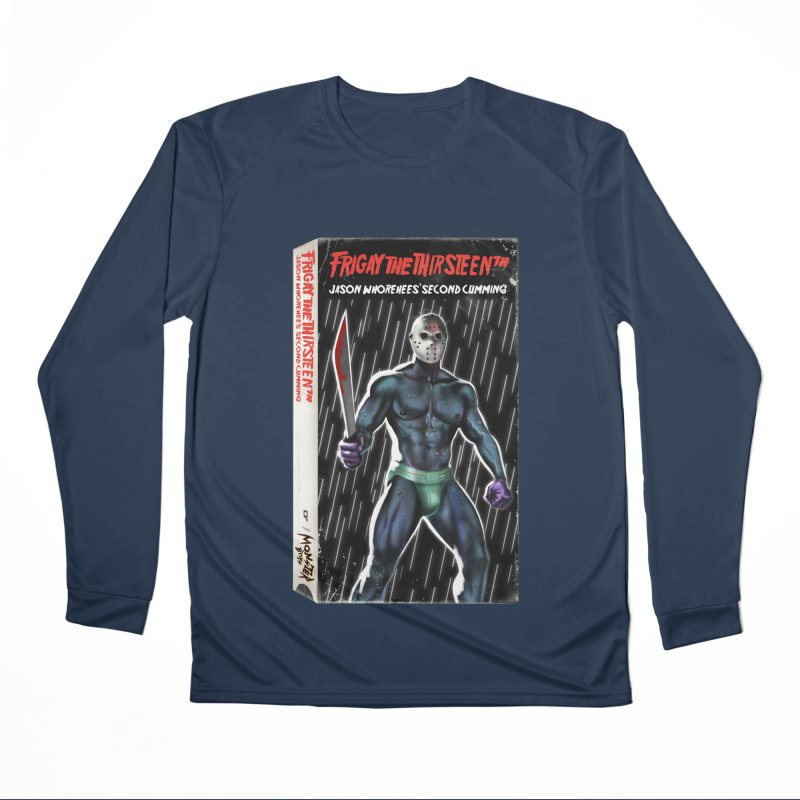 FRIGAY THE THIRSTEENTH VHS COVER Men's Performance Longsleeve T-Shirt by Stephen Draws's Artist Shop