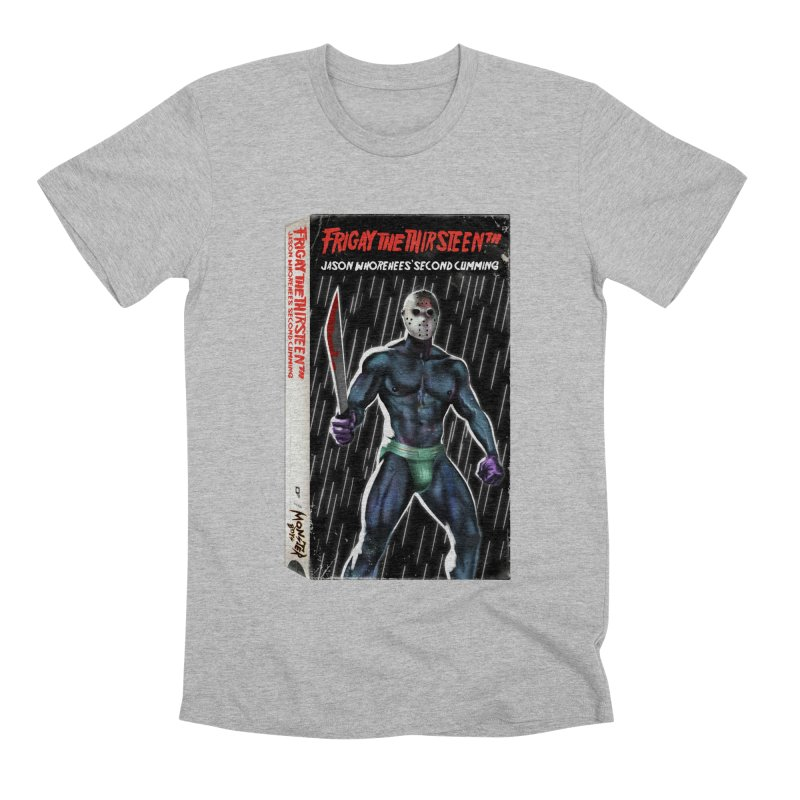 FRIGAY THE THIRSTEENTH VHS COVER Men's Premium T-Shirt by Stephen Draws's Artist Shop