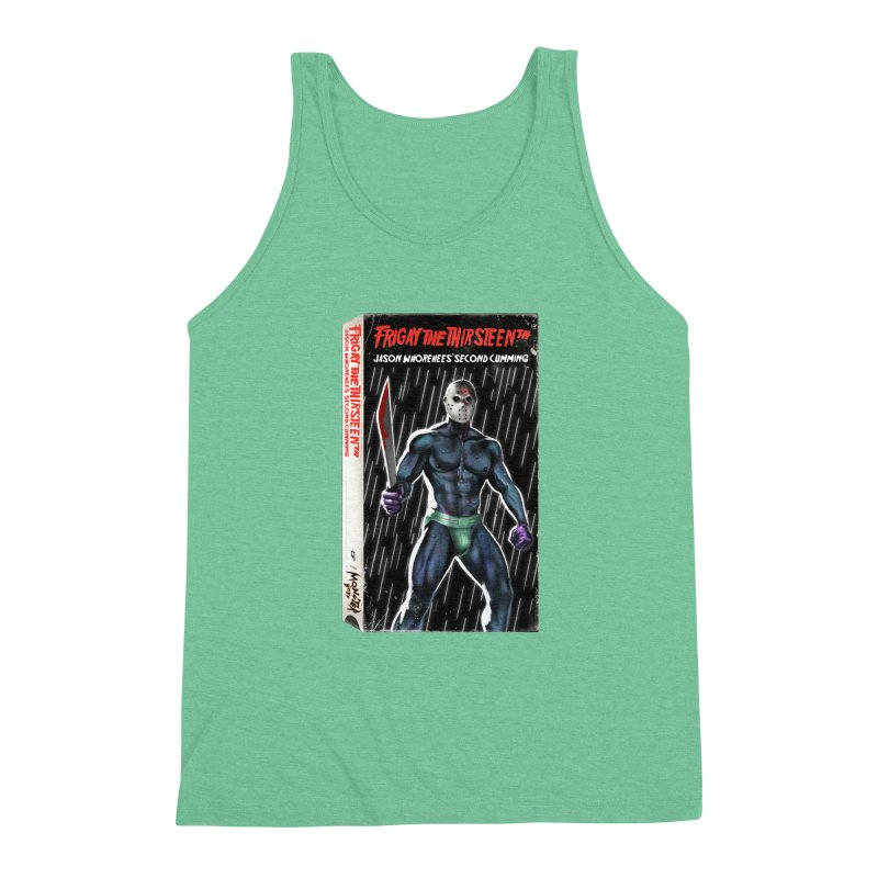 FRIGAY THE THIRSTEENTH VHS COVER Men's Triblend Tank by Stephen Draws's Artist Shop