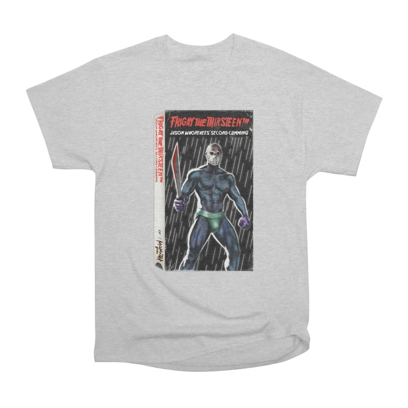 FRIGAY THE THIRSTEENTH VHS COVER Women's Heavyweight Unisex T-Shirt by Stephen Draws's Artist Shop