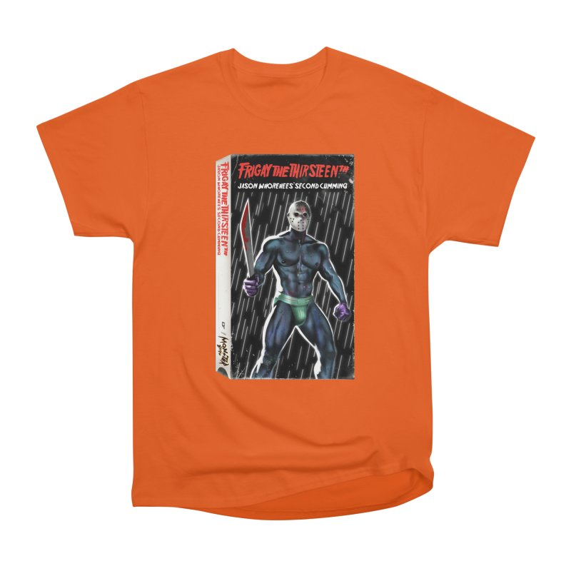 FRIGAY THE THIRSTEENTH VHS COVER Men's Heavyweight T-Shirt by Stephen Draws's Artist Shop