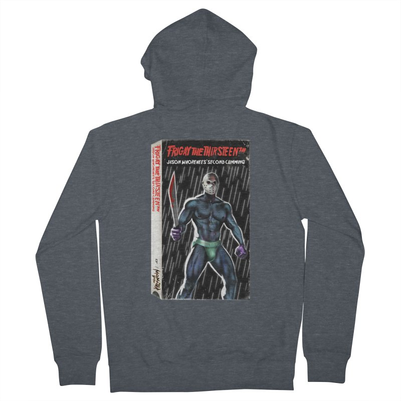 FRIGAY THE THIRSTEENTH VHS COVER Women's French Terry Zip-Up Hoody by Stephen Draws's Artist Shop
