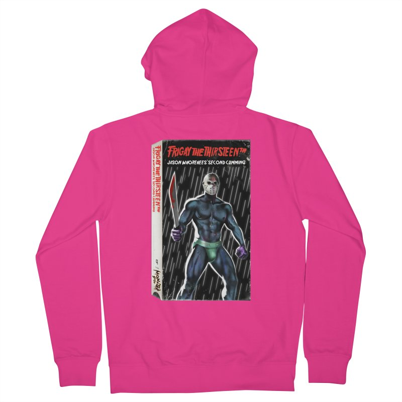 FRIGAY THE THIRSTEENTH VHS COVER Men's French Terry Zip-Up Hoody by Stephen Draws's Artist Shop